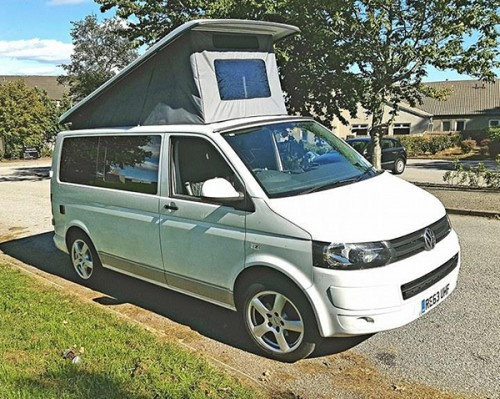 A VW T5 Campervan called Van-Damme and Closed Look for hire in aberdeen, Aberdeen