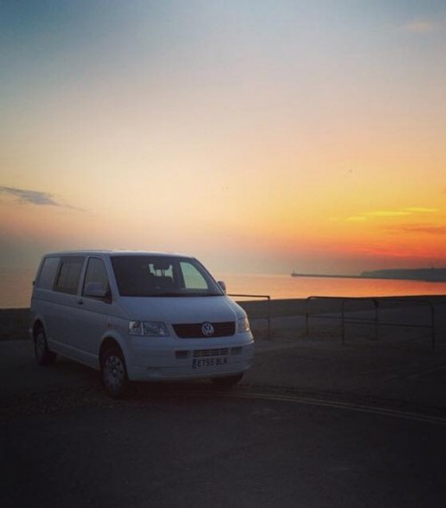 A VW T5 Campervan called Vivieen and Sun set for hire in seaford, East Sussex
