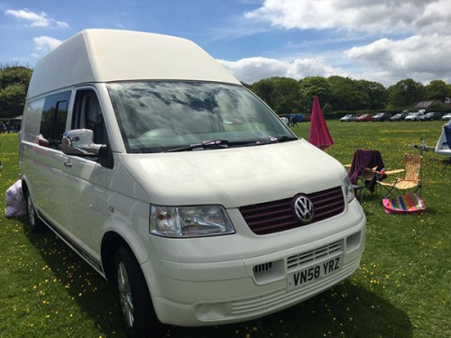 A VW T5 Campervan called CrystalWhite and Crystal White for hire in kessingland, Suffolk