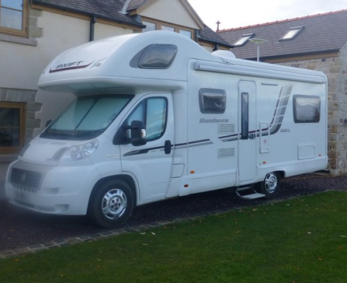A Swift Motorhome called Sundance and Side View for hire