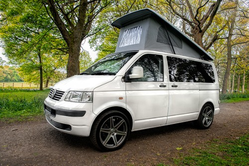 A VW T5 Campervan called Charlie5 and Charlie with Pop Top for hire in manchester, Greater Manchester