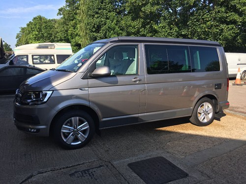 A VW T6 California Campervan called Goldie and goldie for hire in hertford, Hertfordshire