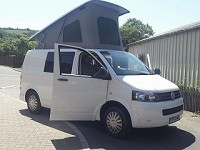 A VW T5 Campervan called Bobby and Bobby for hire in st austell, Cornwall