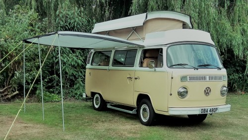 A VW T2 Classic Campervan called Harold and Optional Sunbreak for hire in saxmundham, Suffolk