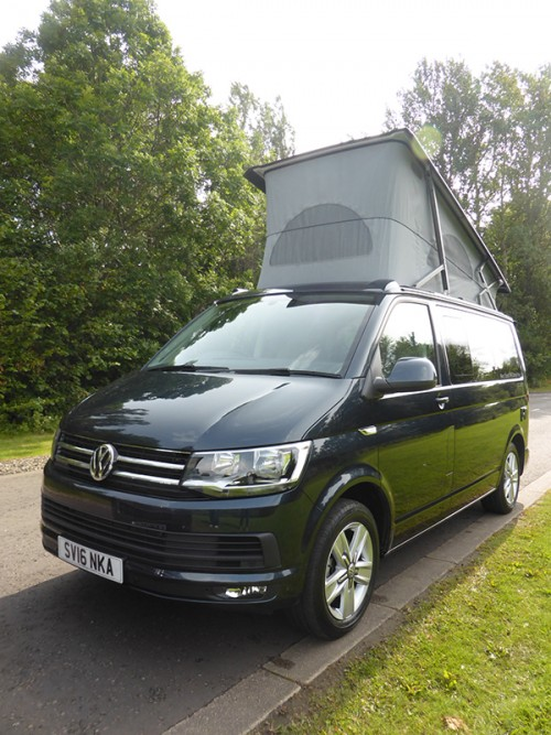 A VW T5 California Campervan called Kali and Kali with Pop Top for hire in airdrie, Lanarkshire