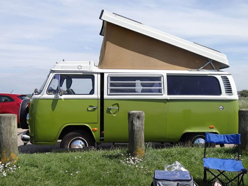 A VW T2 Classic Campervan called Dorothy78 and With Pop Top for hire in brockham, Surrey