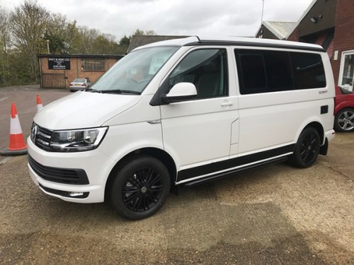 A VW T6 California Campervan called Joey and Left View for hire in hertford, Hertfordshire