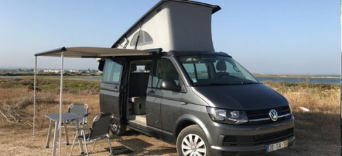A VW T5 Campervan called CaliforniaOcean and Ocean on a Trip for hire in faro, Portugal