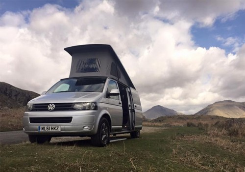 A VW T5 Campervan called Zakk and Zakk for hire in whitehaven , Cumbria