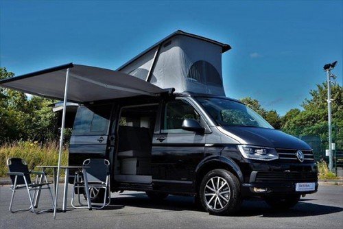A VW T6 California Campervan called Murphy and With Extra space for hire in stonehaven, Aberdeen