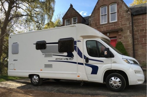 A Swift Motorhome called Escape664 and Rapido for hire in fortrose, Highland