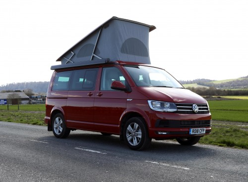 A VW T6 California Campervan called Ruby-Rhubarb and Ruby for hire in greatham, Hampshire