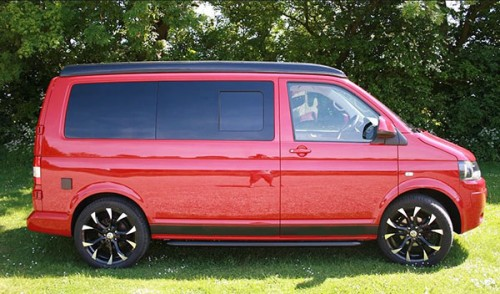 A VW T5 Campervan called Rhubarb and Side View for hire in chelmsford, Essex