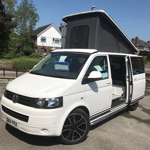 A VW T5 Campervan called Cindel and Cindel with Hat... for hire in wimborne, Dorset