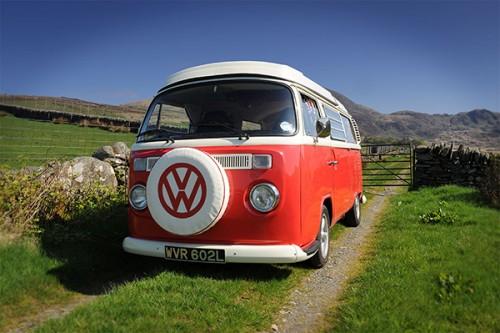 A VW T2 Classic Campervan called Poppy and Poppy... for hire in Garndolbenmaen, Gwynedd