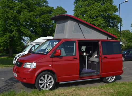 A VW T5 Campervan called RubyScarlett and Ruby Scarlett... for hire in bristol, Somerset