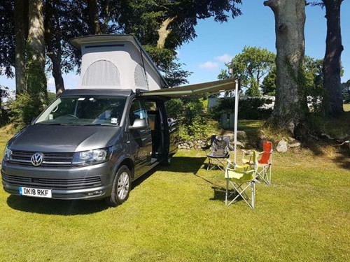 A VW T5 Campervan called Ratchet and Front for hire in chester, Merseyside