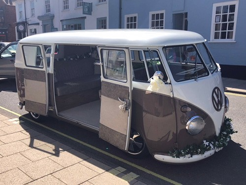 A VW T1 Splitscreen Campervan called CoCo and Coco with Wedding Look..!!! for hire in chelmsford, Essex