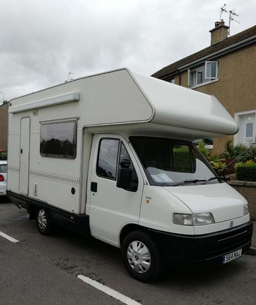 A OverCab Motorhome called Dot and Dot... for hire in ormiston, East Lothian