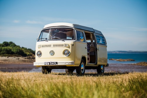A VW T2 Classic Campervan called Daisy-1973 and Daisy for hire in kippford, Dumfries and Galloway