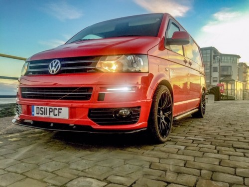 A VW T5 Campervan called Reggie and Reggie . . . for hire in Carnforth, Lancashire