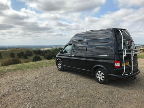 A VW T5 Campervan called Rolo and Rolo with Bike Rack for hire in kessingland, Suffolk