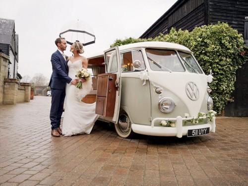 A rainy December wedding ...