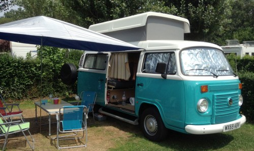 A VW T2 Classic Campervan called Minty2 and Minty Camping for hire in stratford upon avon, Warwickshire