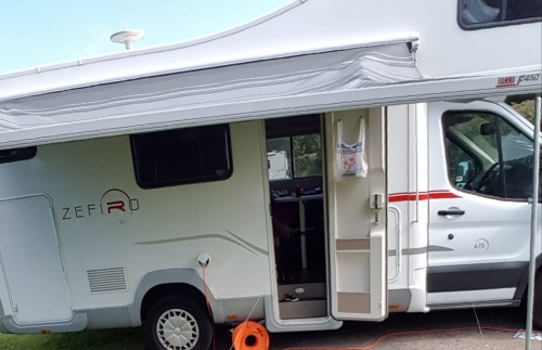 A Roller team Motorhome called BangorNI and George of the road for hire in bangor, Down