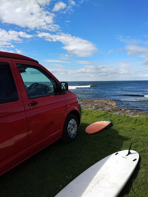 A VW T5 Campervan called Dingle and Dingle for hire