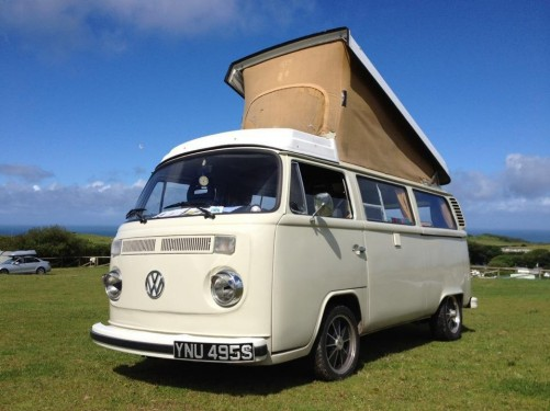 A VW T2 Classic Campervan called BessieVW and Enjoying the Sunshine in Cornwall for hire in filton, Bristol