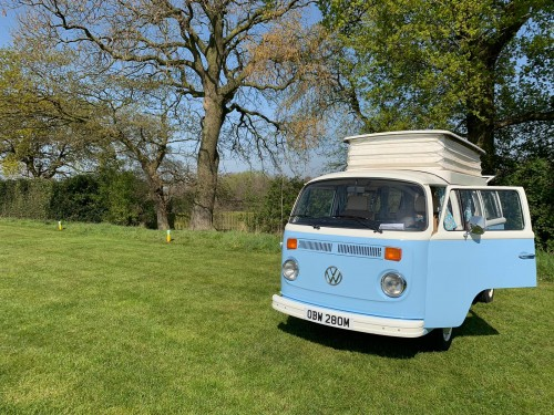A VW T2 Classic Campervan called Bertie and Bertie for hire in huddersfield, West Yorkshire