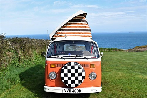 A VW T2 Classic Campervan called Babbs and Hey Im Babs... for hire in builth wells, Powys