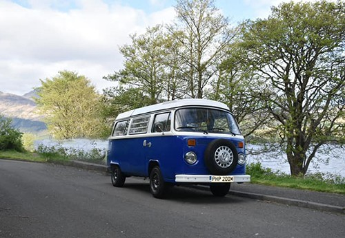 A VW T2 Classic Campervan called WeeBluebell and The Blue for hire in strathaven, Glasgow