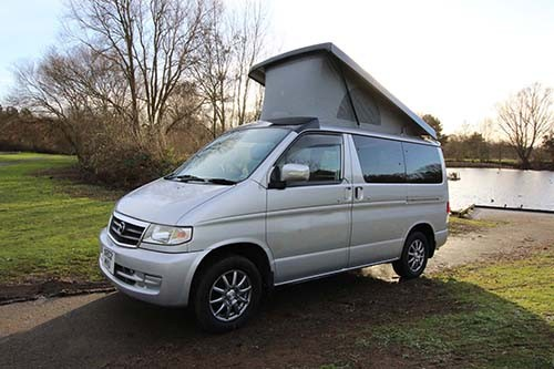 A Bongo Campervan called SilverBongo and The Silver for hire in peterborough, Cambridgeshire