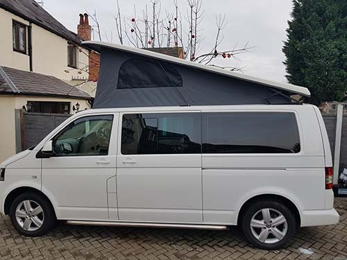 A VW T5 California Campervan called Lexy and The Lexy for hire