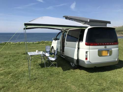 A Nissan Campervan called Toto and Evening Tea Break for hire in bournemouth, Dorset