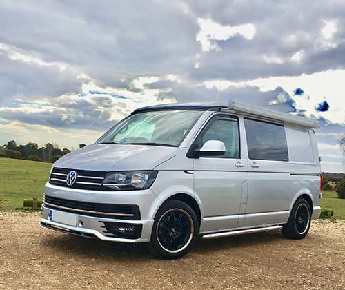 A VW T6 Campervan called Prince-Harry and Prince Harry for hire