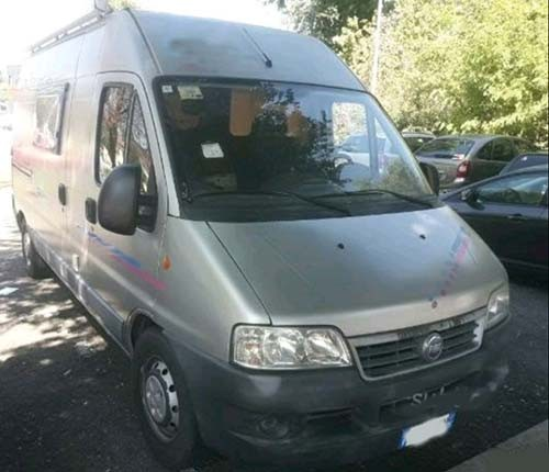 A Fiat Campervan called Adria and Adria for hire in gatteo, Italy