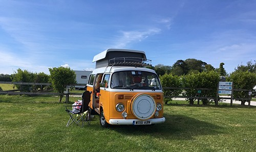 A VW T2 Classic Campervan called ClementineS and Clement for hire in sidmouth, devon, Devon