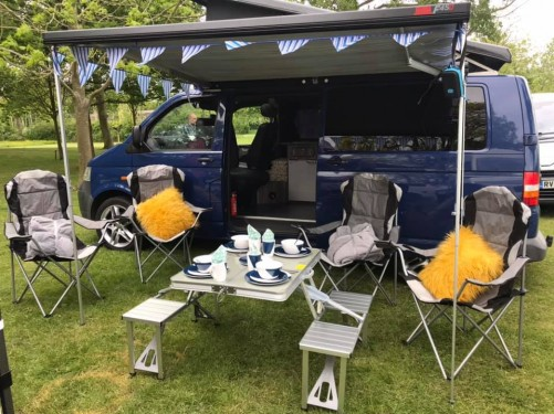 A VW T5 Campervan called BARNIE and FULL SET UP for hire in kessingland, Suffolk