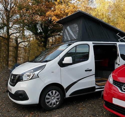 A Nissan Campervan called Peanut and Frewin for hire in horsham, West Sussex