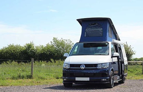 A VW T5 Campervan called Lynn and Lynn with Pop for hire in chichester, West Sussex