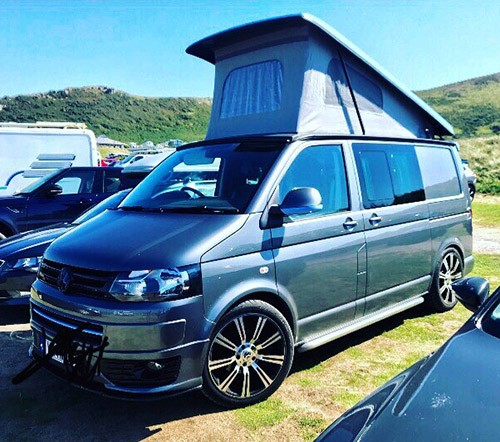 A VW T5 Campervan called Nico and Nico for hire in swansea, Swansea