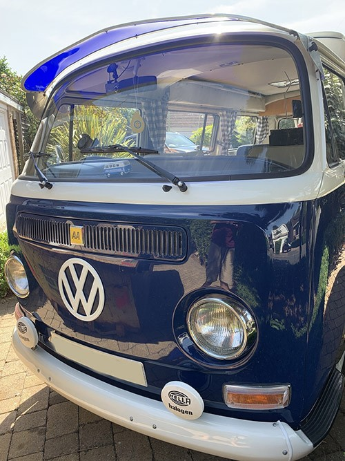 A VW T2 Classic Campervan called Burley and Burley the Camper for hire in watford, Herefordshire