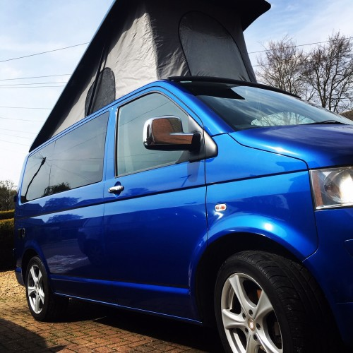 A VW T5 Campervan called BillyT5 and Billy the Boy for hire in petersfield , Hampshire