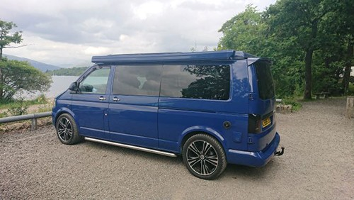A VW T5 Campervan called Polaris and Exterior for hire in glasgow, Glasgow