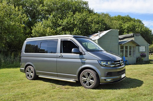 A VW T6 Campervan called Oliver and Oliver for hire in wadebridge, Cornwall