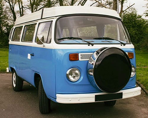 A VW T2 Classic Campervan called Basil and Basil for hire in sheffield, South Yorkshire