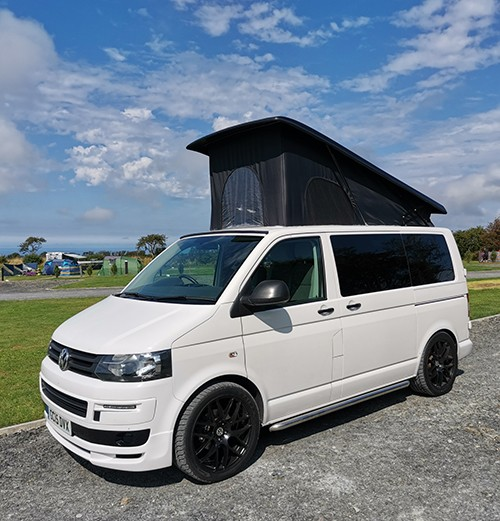 A VW T5 Campervan called Elsha and Elsha for hire in buckley, Flintshire